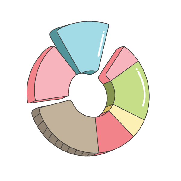 How to create a Pie Chart illustration using Adobe Illustrator 17