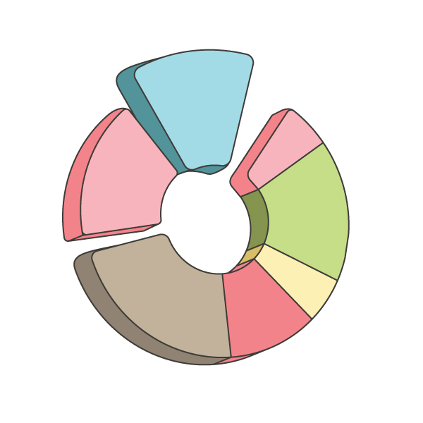 How to create a Pie Chart illustration using Adobe Illustrator 15