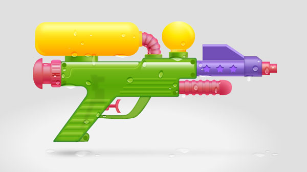 Create a Water Gun in Adobe Illustrator