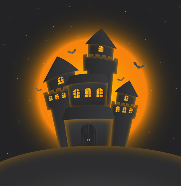 How to Create Haunted Castle for Halloween with Illustrator 11