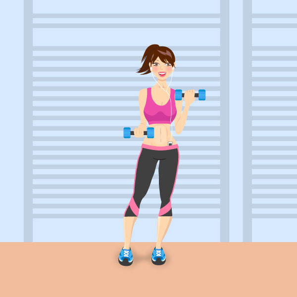 Members Area Tutorial: How to Create a Fitness Girl Character in Adobe Illustrator