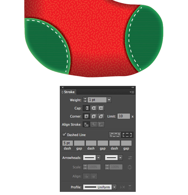 Create a Cute Christmas Sock in Adobe Illustrator 12