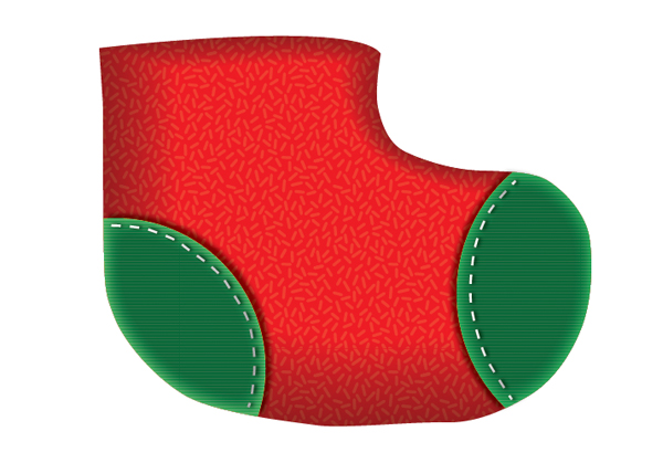 Create a Cute Christmas Sock in Adobe Illustrator 15