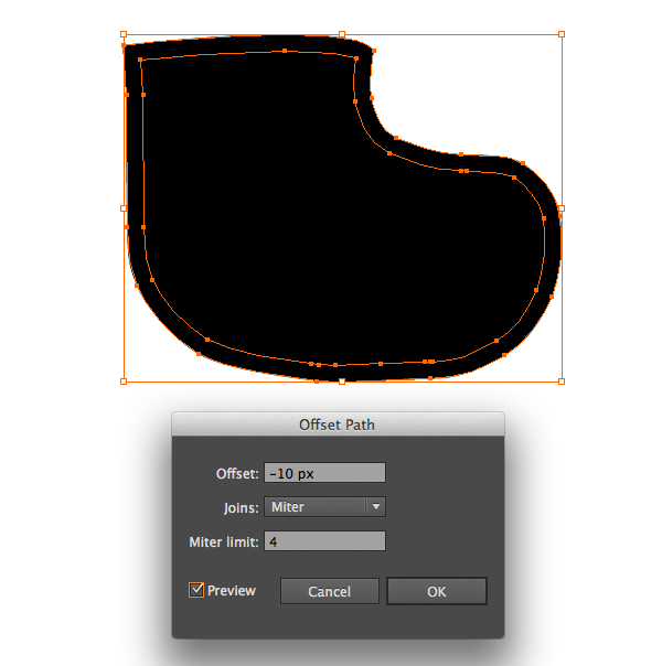 Create a Cute Christmas Sock in Adobe Illustrator 16