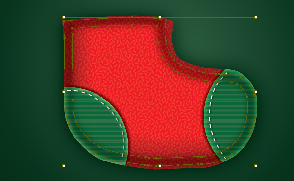 Create a Cute Christmas Sock in Adobe Illustrator 19