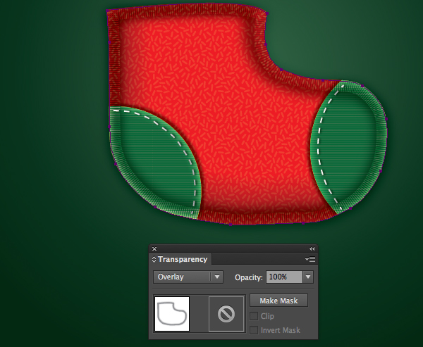 Create a Cute Christmas Sock in Adobe Illustrator 21