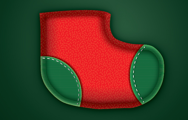 Create a Cute Christmas Sock in Adobe Illustrator 24