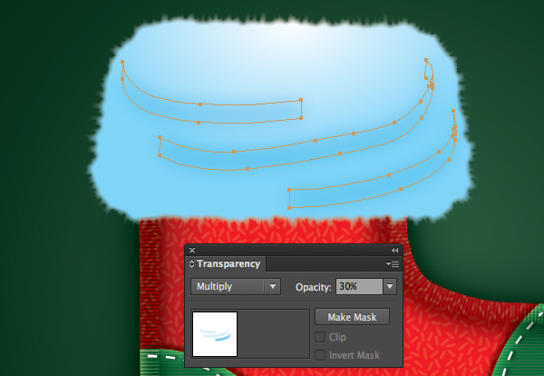 Create a Cute Christmas Sock in Adobe Illustrator 33