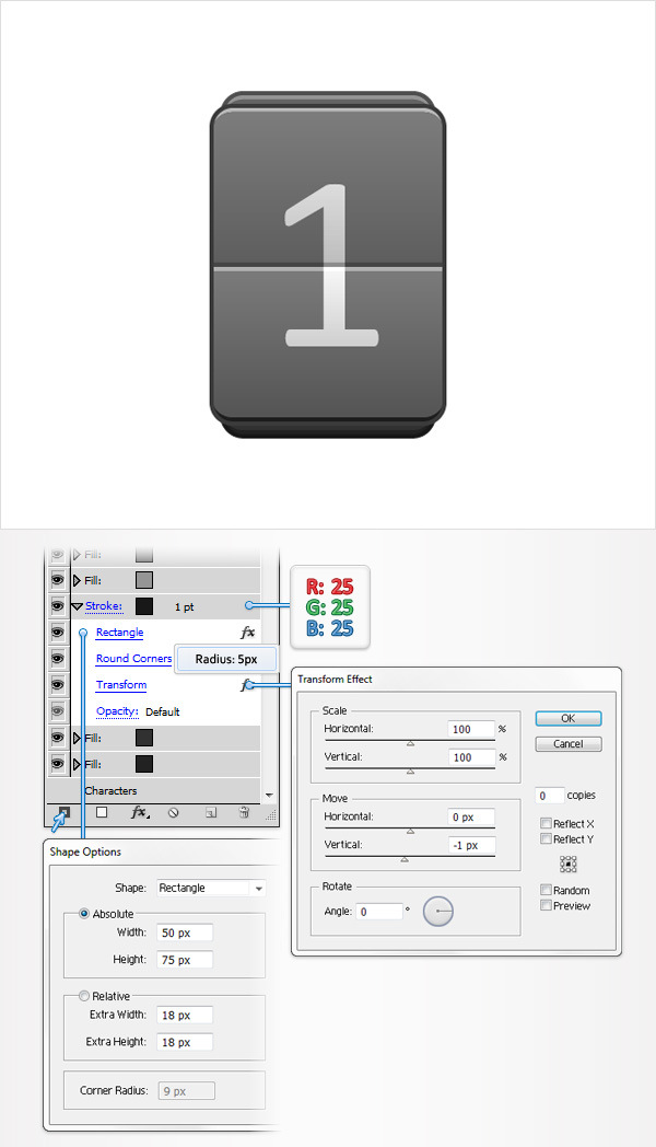Create a Simple Flip Clock in Adobe Illustrator 13
