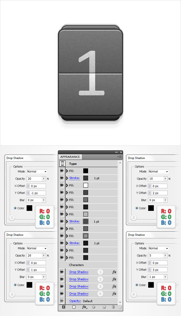 Create a Simple Flip Clock in Adobe Illustrator 15