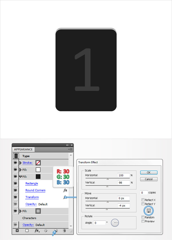 Create a Simple Flip Clock in Adobe Illustrator 4