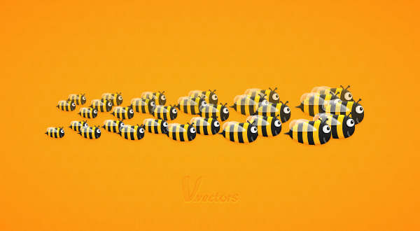 Create a Funny Bee Swarm Illustration in Adobe Illustrator