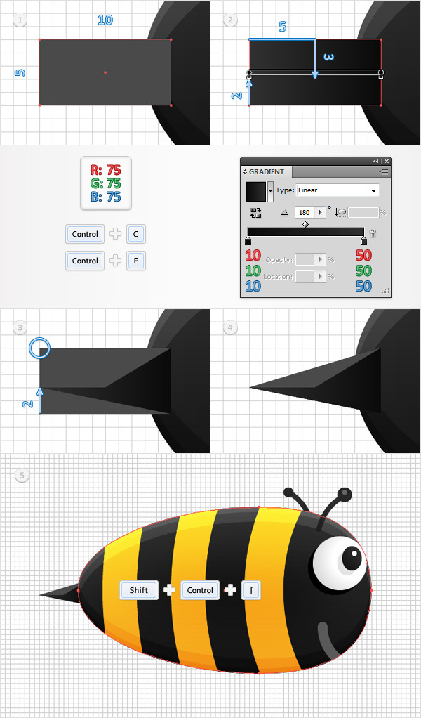 Create a Funny Bee Swarm Illustration in Adobe Illustrator 17