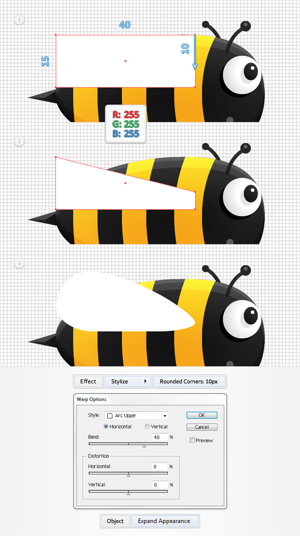 Create a Funny Bee Swarm Illustration in Adobe Illustrator 18
