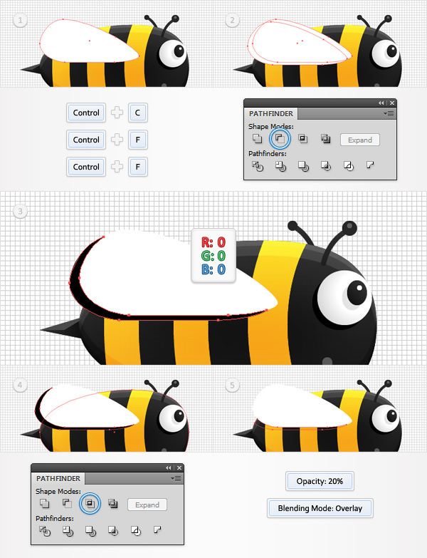 Create a Funny Bee Swarm Illustration in Adobe Illustrator 19