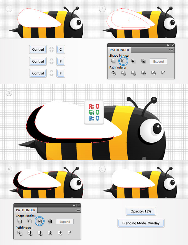 Create a Funny Bee Swarm Illustration in Adobe Illustrator 20