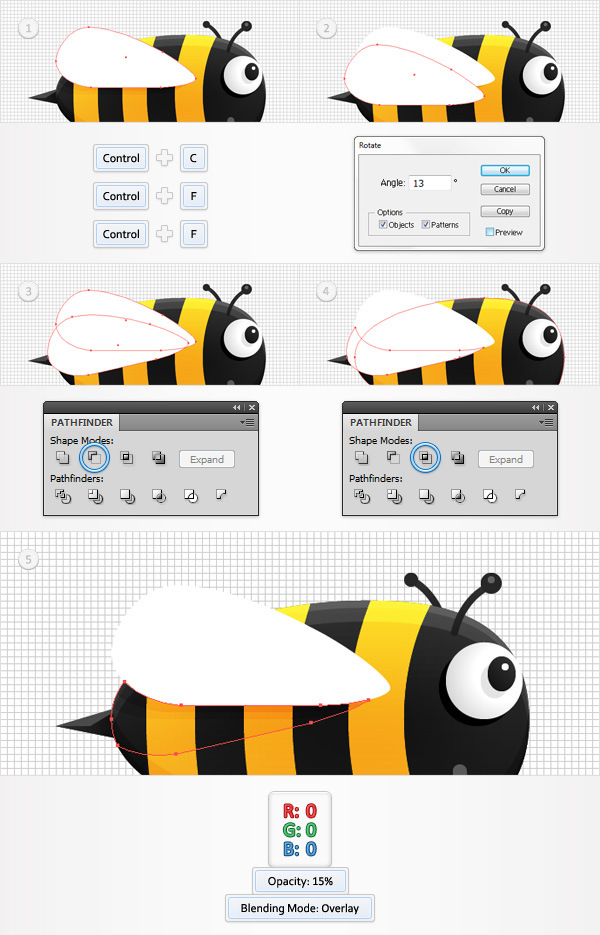 Create a Funny Bee Swarm Illustration in Adobe Illustrator 21