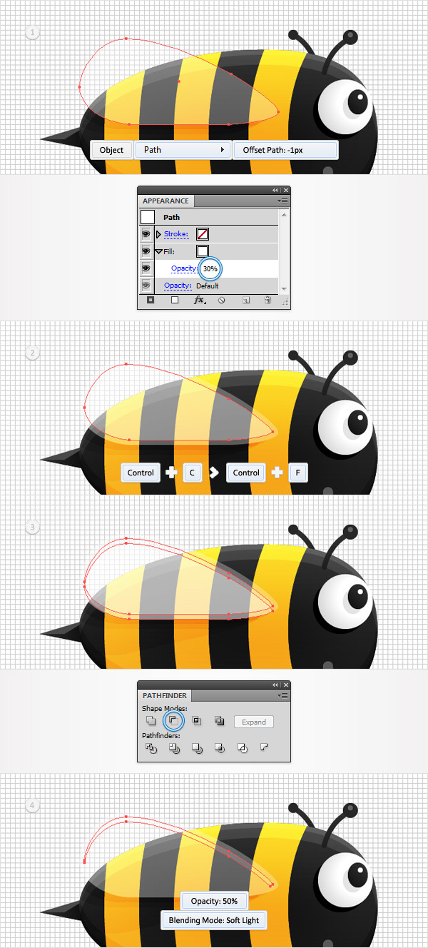 Create a Funny Bee Swarm Illustration in Adobe Illustrator 22