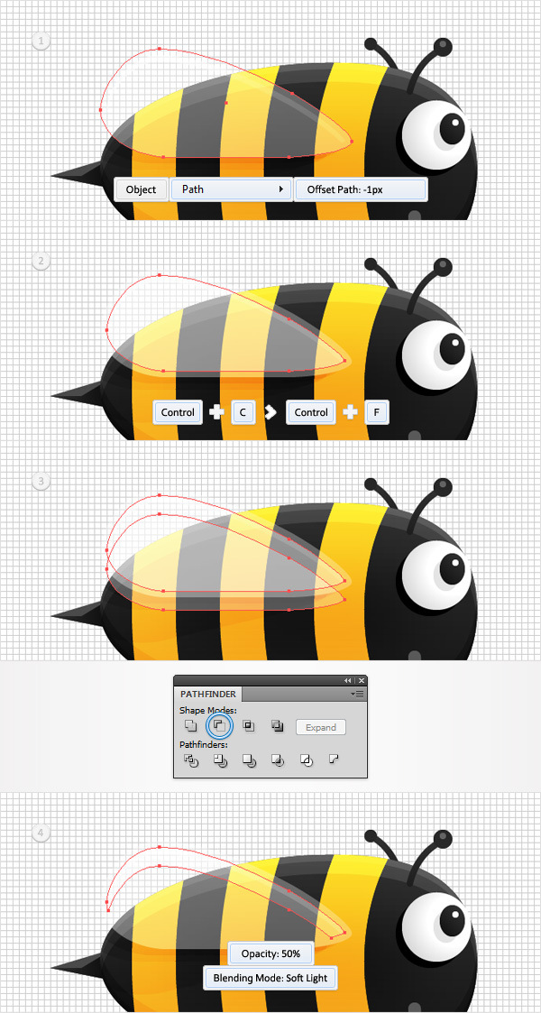 Create a Funny Bee Swarm Illustration in Adobe Illustrator 23
