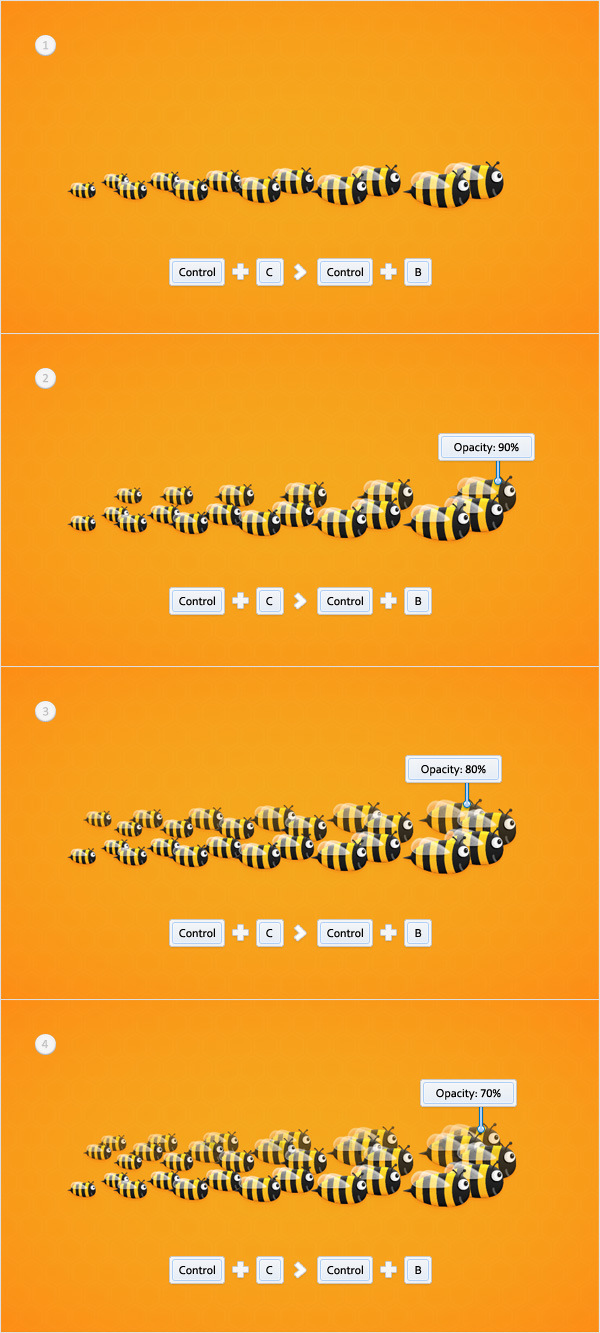 Create a Funny Bee Swarm Illustration in Adobe Illustrator 28