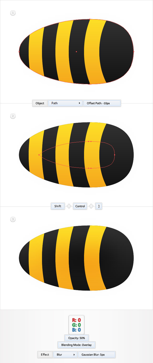 Create a Funny Bee Swarm Illustration in Adobe Illustrator 6