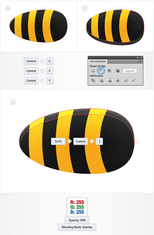 Create a Funny Bee Swarm Illustration in Adobe Illustrator 8