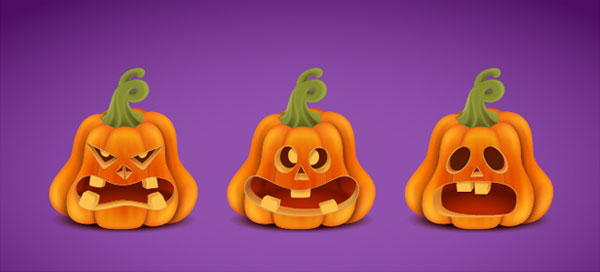 Create a Halloween set with Pumpkins in Adobe Illustrator 157