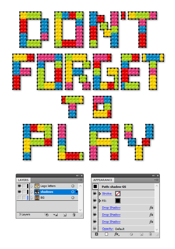 How to Create a Lego Text Effect in Adobe Illustrator 26