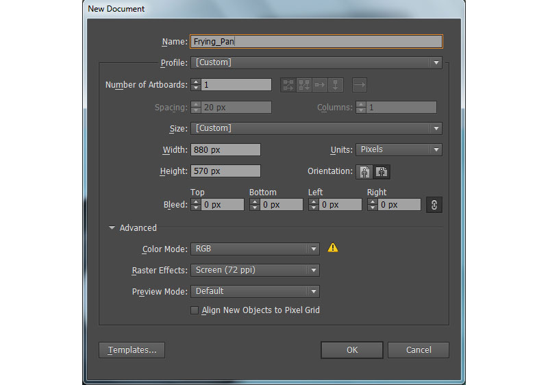 How to Create a Frying Pan in Adobe Illustrator 1