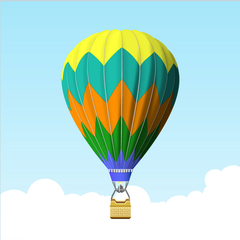 Create a Hot Air Balloon in Adobe Illustrator