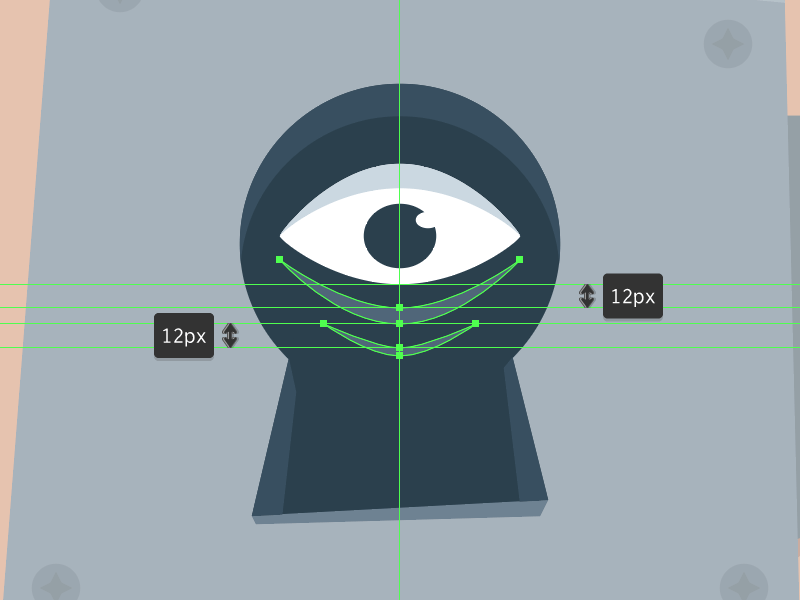 Create a Scary Look-Through-The-Keyhole Illustration in Adobe