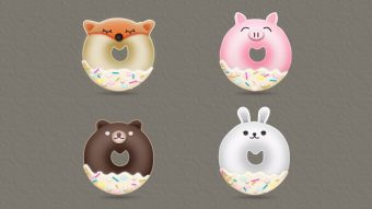 Create Animal Donuts Designs in Adobe Illustrator