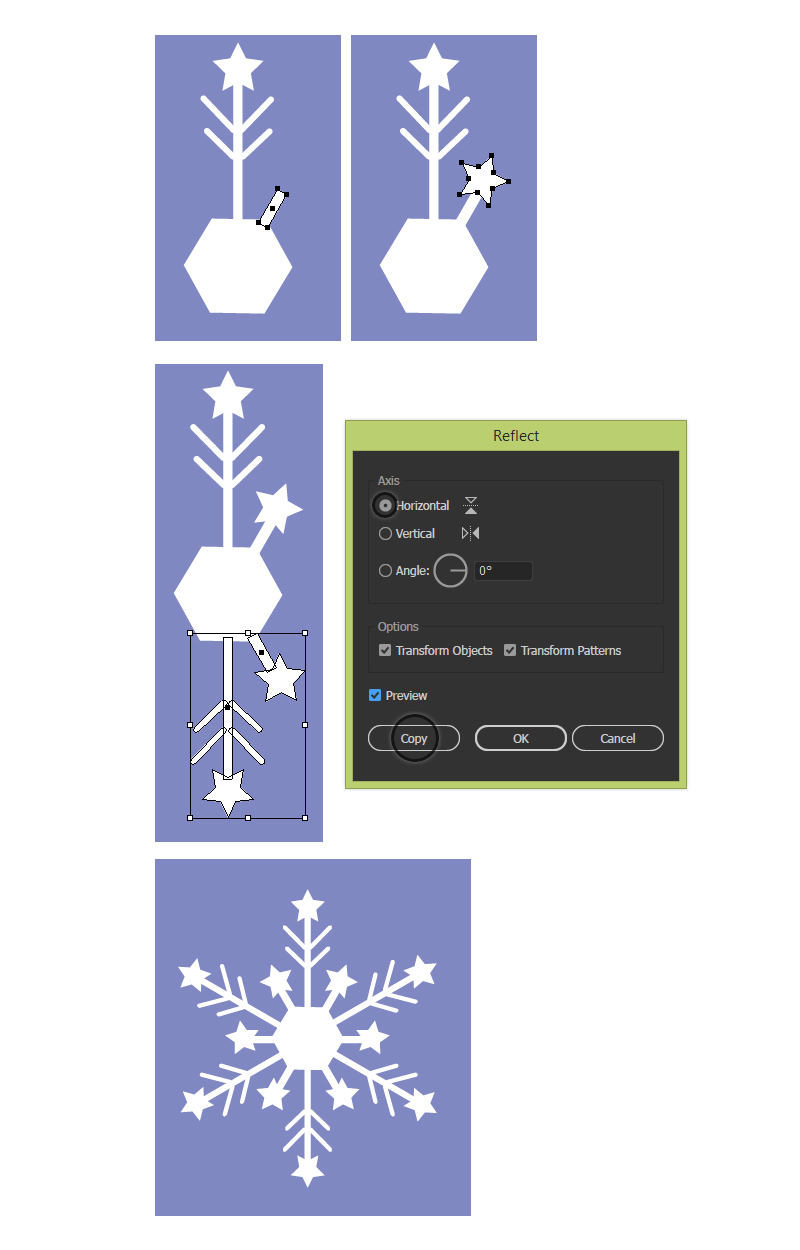 How to Create a Winter Seamless Pattern in Adobe Illustrator 19