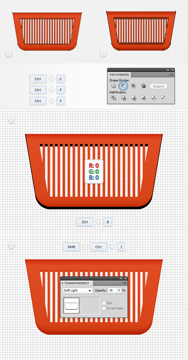 How to Create a Shopping Basket Icon in Adobe Illustrator 10