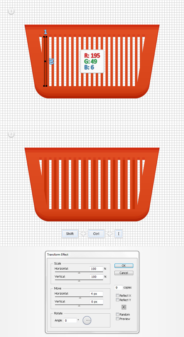 How to Create a Shopping Basket Icon in Adobe Illustrator 11