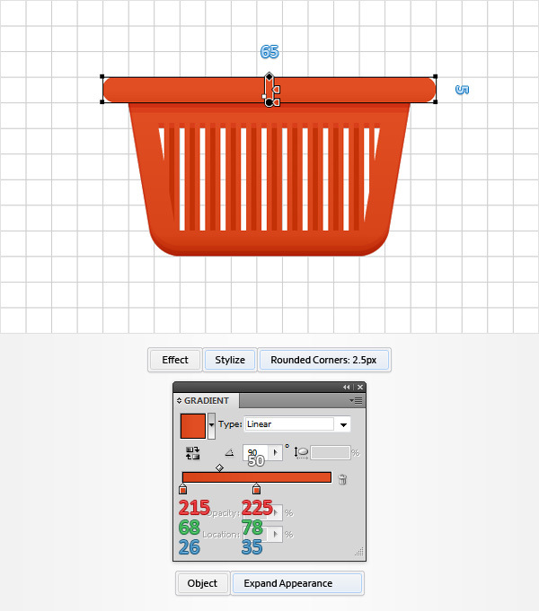 How to Create a Shopping Basket Icon in Adobe Illustrator 13