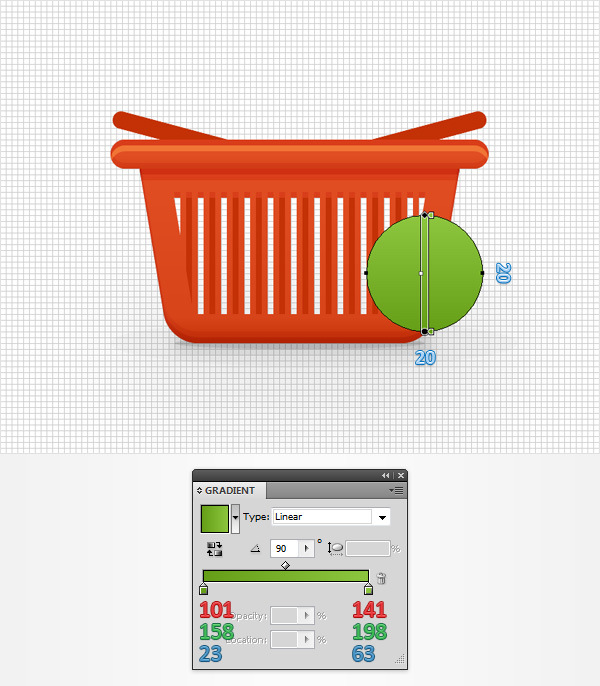 How to Create a Shopping Basket Icon in Adobe Illustrator 25
