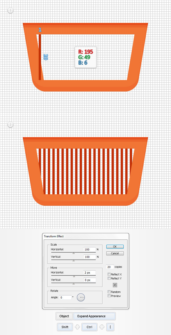 How to Create a Shopping Basket Icon in Adobe Illustrator 8