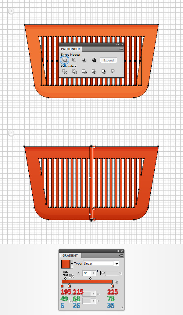 How to Create a Shopping Basket Icon in Adobe Illustrator 9