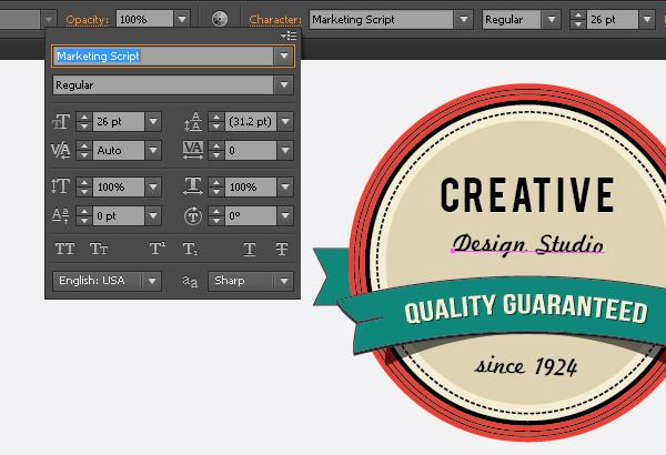 Create a Gorgeous Retro Badge in Adobe Illustrator 17