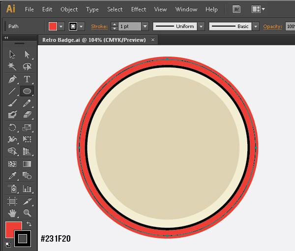 Create a Gorgeous Retro Badge in Adobe Illustrator 6b