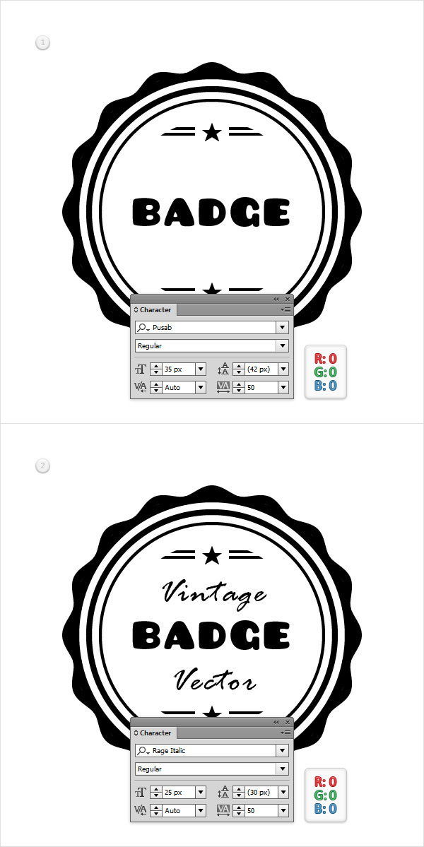 How to Create a Vintage Web Badge 18