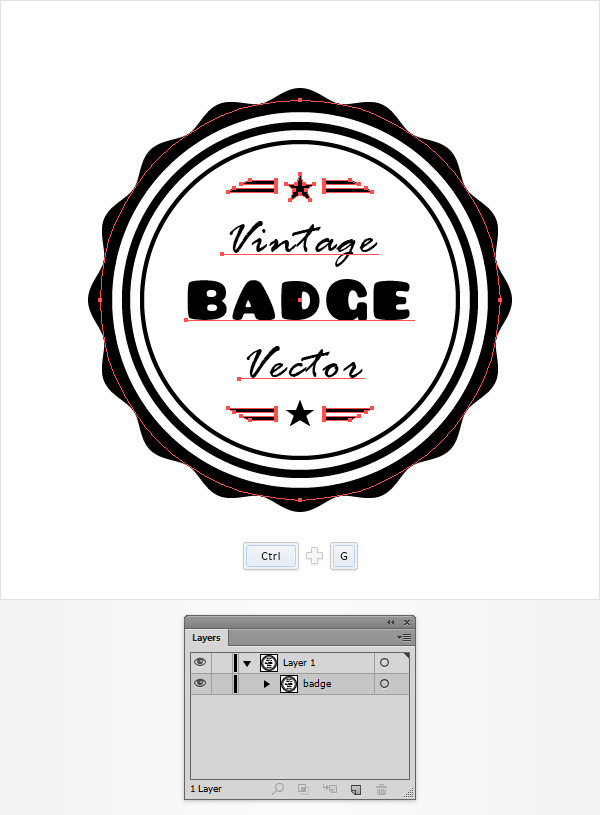How to Create a Vintage Web Badge 19