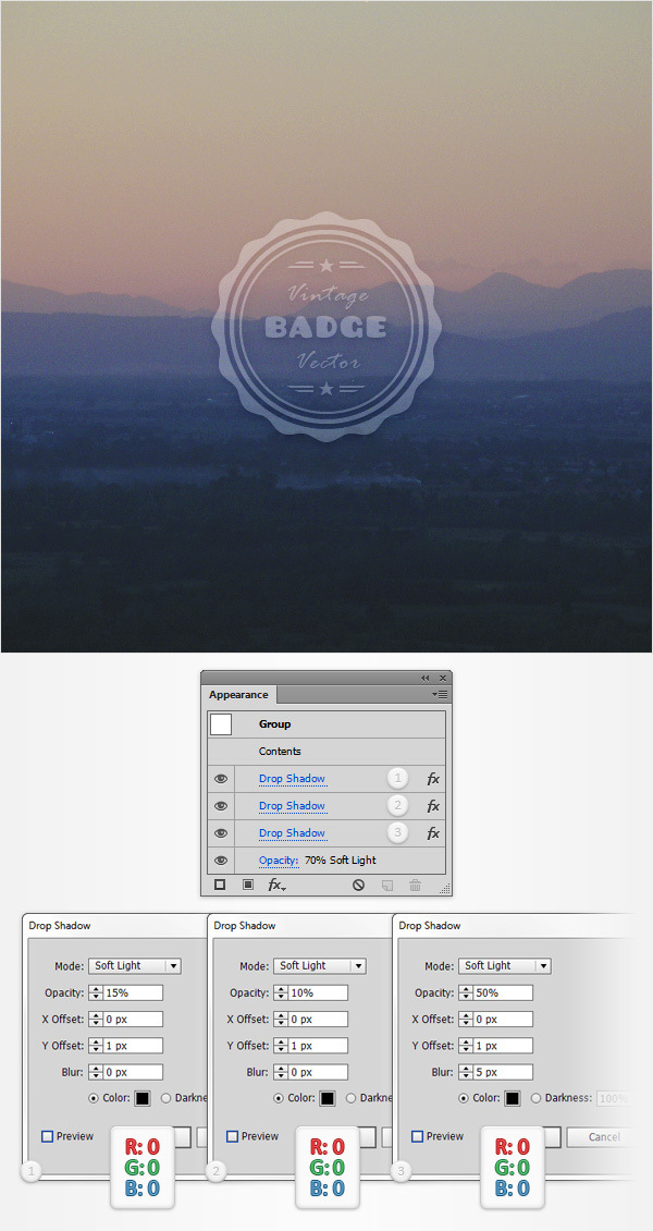 How to Create a Vintage Web Badge 24
