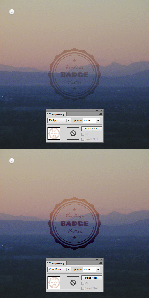 How to Create a Vintage Web Badge 26