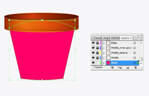 Create a flowerpot from scratch in  Adobe Illustrator 12