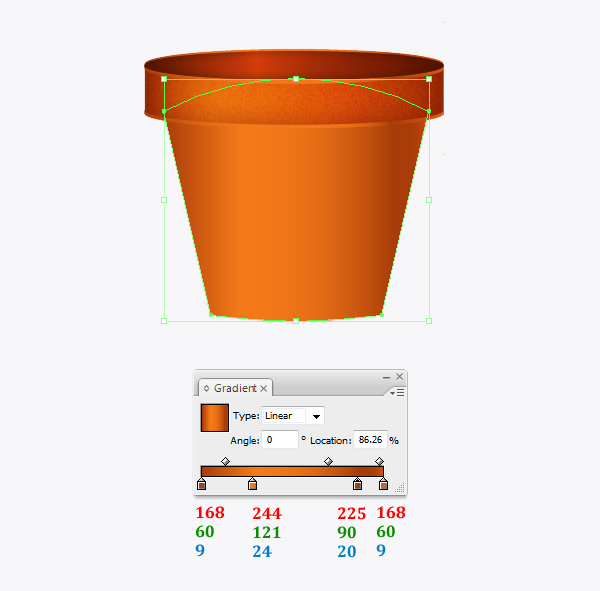 Create a flowerpot from scratch in  Adobe Illustrator 13