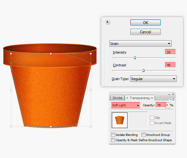 Create a flowerpot from scratch in  Adobe Illustrator 14