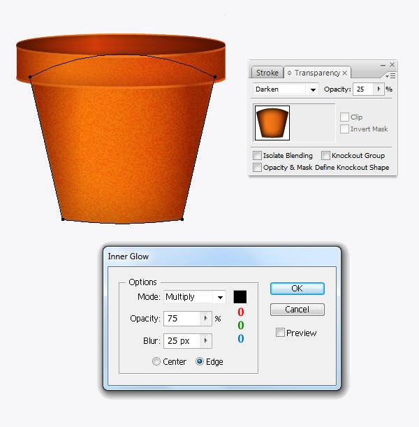 Create a flowerpot from scratch in  Adobe Illustrator 15