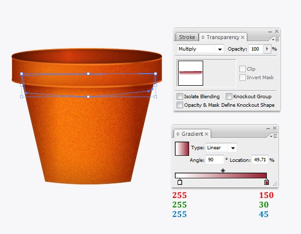 Create a flowerpot from scratch in  Adobe Illustrator 17